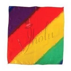 Pañuelo de Seda Multicolor de 18 pulgadas (Multicolor Silk)