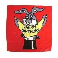 Pañuelo de Seda de Cumpleaños de 18 pulgadas (Happy Birthday Silk)