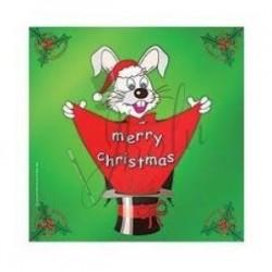 Pañuelo de Seda de Navidad de 18 pulgadas (Merry Christmas Silk)