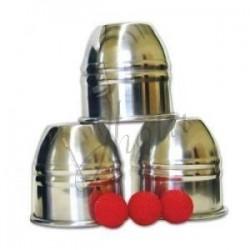 Cubiletes y Bolas (Cups and Balls) de Aluminio