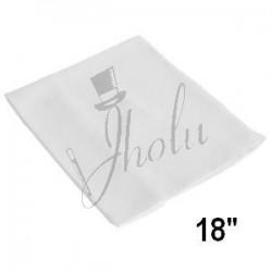 Pañuelo de Seda Cuadrado Blanco 18 pulgadas (Silk White)