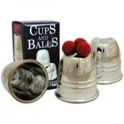 Cubiletes Cromados y Bolas (Plastic Chrome - Cups and Balls) de Plastico