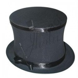 Sombrero de Copa Negro Plegable (Collapsible Top Hat)