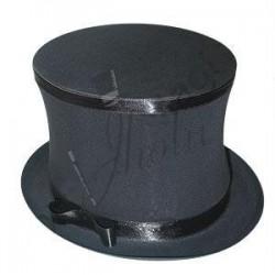 Sombrero de Copa Negro Plegable (Collapsible Top Hat)