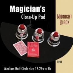 Tapete Medio Circular Negro de 69.80cm x 22.80cm (Medium Half Circle Close-up Pad)