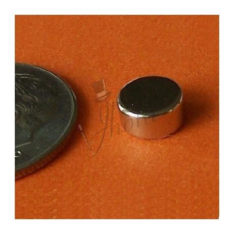 Imán de Neodimio en Disco 6mm x 3mm