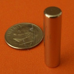 Imán de Neodimio Cilíndrico 6mm x 25mm