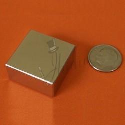 Imán de Neodimio en Bloque 25mm x 25mm x 12mm