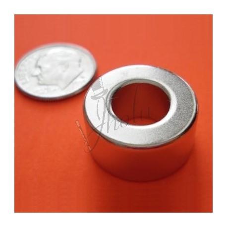 Imán de Neodimio en Anillo 19mm DE x 10mm DI x 10mm