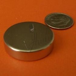 Imán de Neodimio en Disco 25mm x 6mm