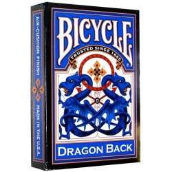 Baraja Dragón Back Azul en Bicycle