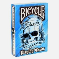 Club Tattoo Azul Deck en Bicycle