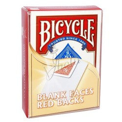 Cartas Cara Blanca / Dorso Rojo en Bicycle (Bicycle Blank Faces / Red Backs)