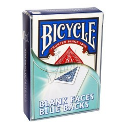 Cartas Cara Blanca / Dorso Azul en Bicycle (Bicycle Blank Faces / Blue Backs)