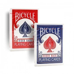 Cartas Bicycle Rider Back Poker - Dorso Azul/Rojo (Deck Blue/Red)