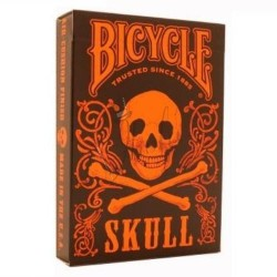 Skull Orange Deck en Bicycle