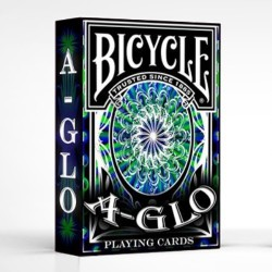A-Glo Blue Ultra Violet Deck en Bicycle