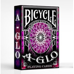 A-Glo Red Ultra Violet Deck en Bicycle